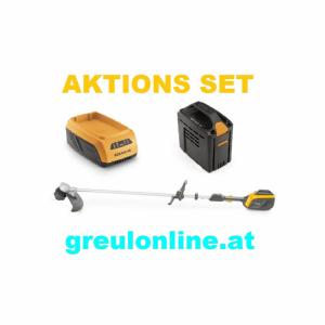 STIGA SBC 500 AE Motorsense, Aktionsset, Akku SBT 540 AE, Ladegerät SCG 515