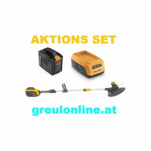 STIGA SGT 500 AE Rasentrimmer, Aktionsset, Akku SBT 520 AE, Ladegerät SCG 515