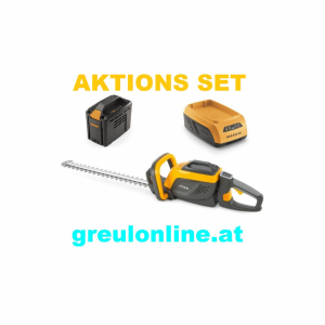STIGA SHT 500 AE Heckenschere, Aktionsset, Akku SBT 520 AE, Ladegerät SCG 515